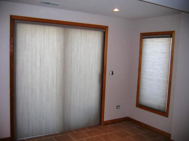Pictures Of Vertical Cellular Shades For Sliding Gl Door